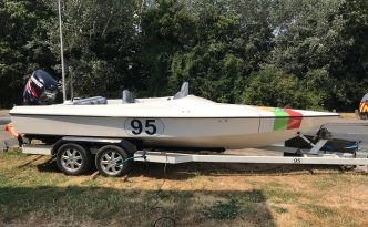 used cyclone 19ft sports boat 2003 evinrude 150